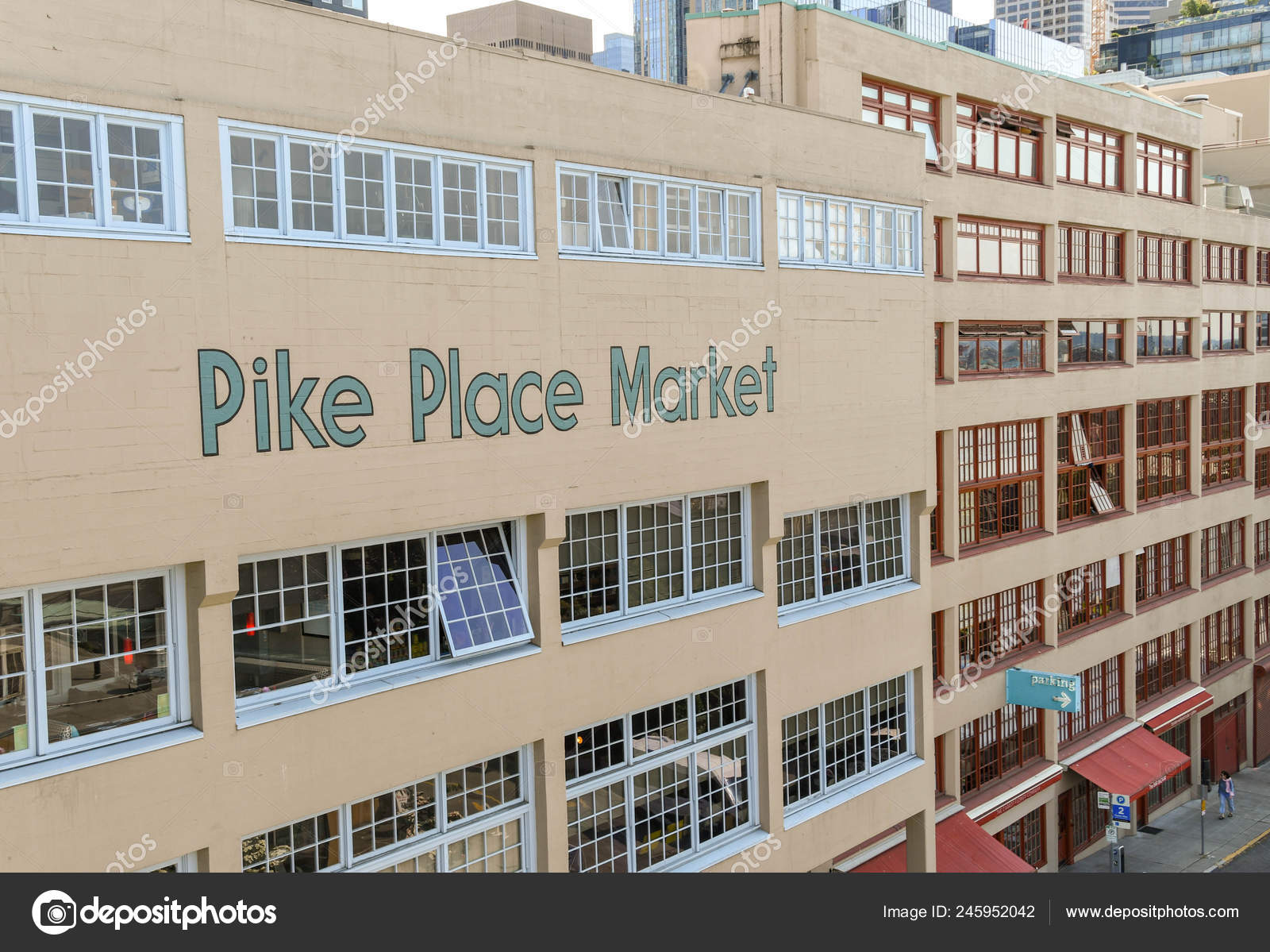 Seattle Washington State Usa June 2018 Large Sign Pike Place – Stock