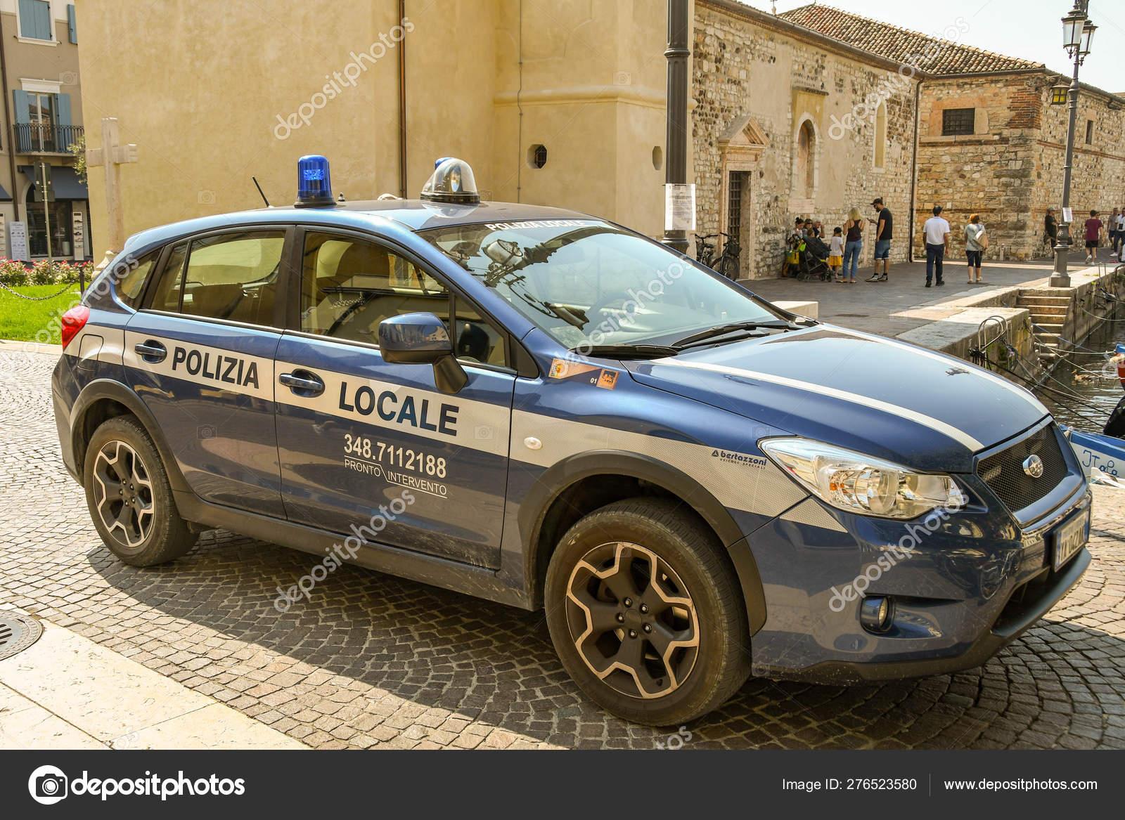 Lazise Lake Garda Italy September 2018 Police Patrol Car