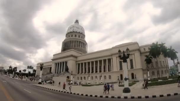 Havana / Cuba - 03 22 2019: Capitolio hyperlapse