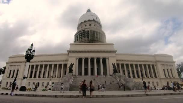 Havana / Cuba - 03 22 2019: Capitolio Timelapse