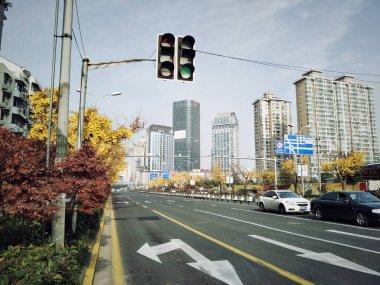 street scene in the city