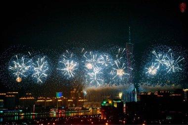 "Картина, постер, плакат, фотообои ""Красивый праздничный фейерверк ночью"", артикул 269951052"