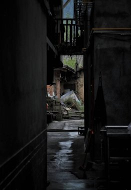 """Картина, постер, плакат, фотообои """"Старый заброшенный дом в городе """", артикул 276947272"""