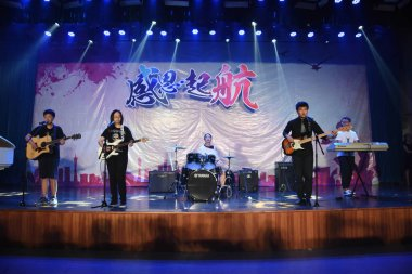music band performing in stage