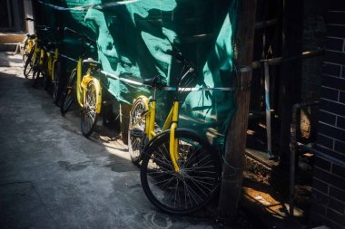 old bicycles in the city