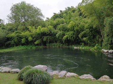 """Картина, постер, плакат, фотообои """"сельская река и живописный вид на природу """", артикул 281603474"""