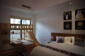 luxus belső tér kényelmes szoba a szállodában