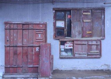 old rusty door in a house