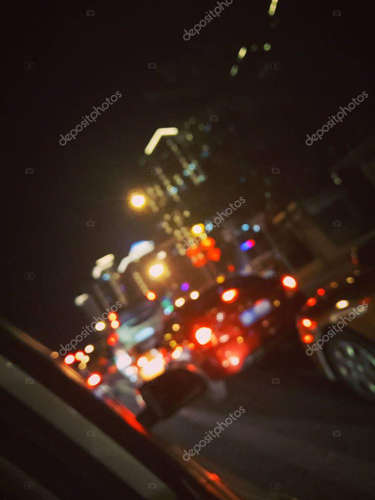Фотообои traffic in the night
