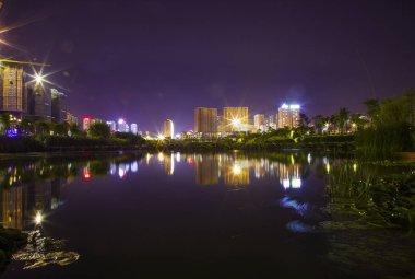 "Картина, постер, плакат, фотообои ""красивый ночной вид на город"", артикул 288355750"