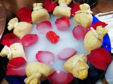 fried dumplings in the market