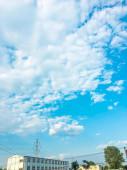 blauer Himmel mit Wolken, Wolkenlandschaft