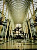 építészet belső, modern futurisztikus épület