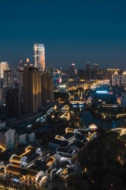 view of the city of bangkok at night