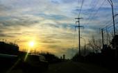 schönen bunten Sonnenuntergang Himmel