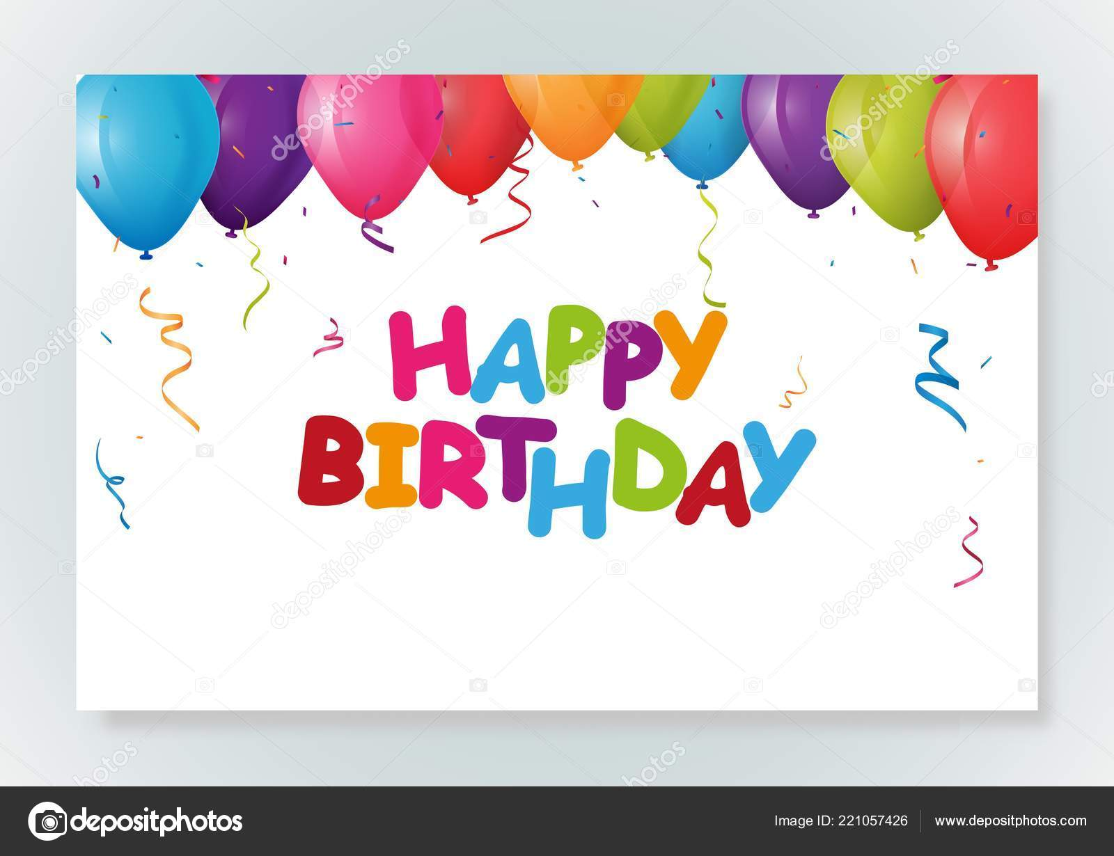 Vektor Illustration Von Happy Birthday Greeting Card Design Mit Konfetti Stockvektor