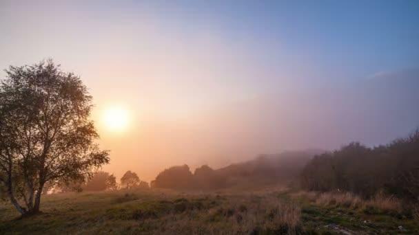 Fog Sunset Mountain Landscape