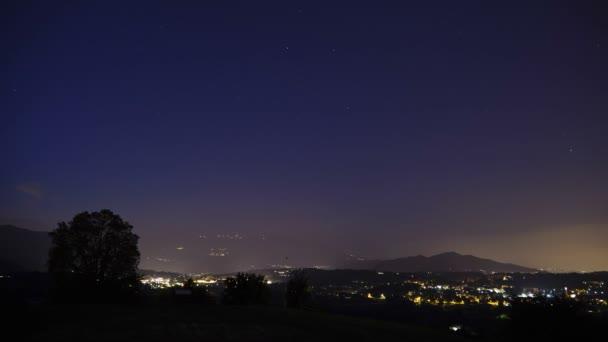 Noční obloha hvězd Timelapse