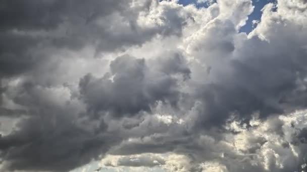 Bouřková mračna Timelapse krajina