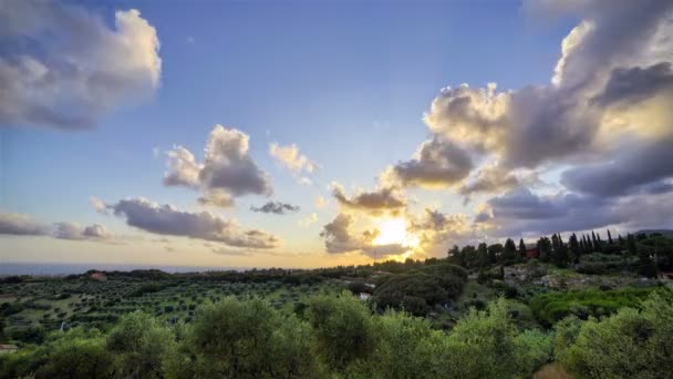 Západ slunce v krajině Toskánska