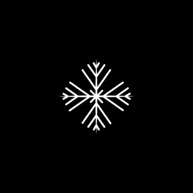 Christmas snowflake silhouette icon. Vector concept illustration for design.