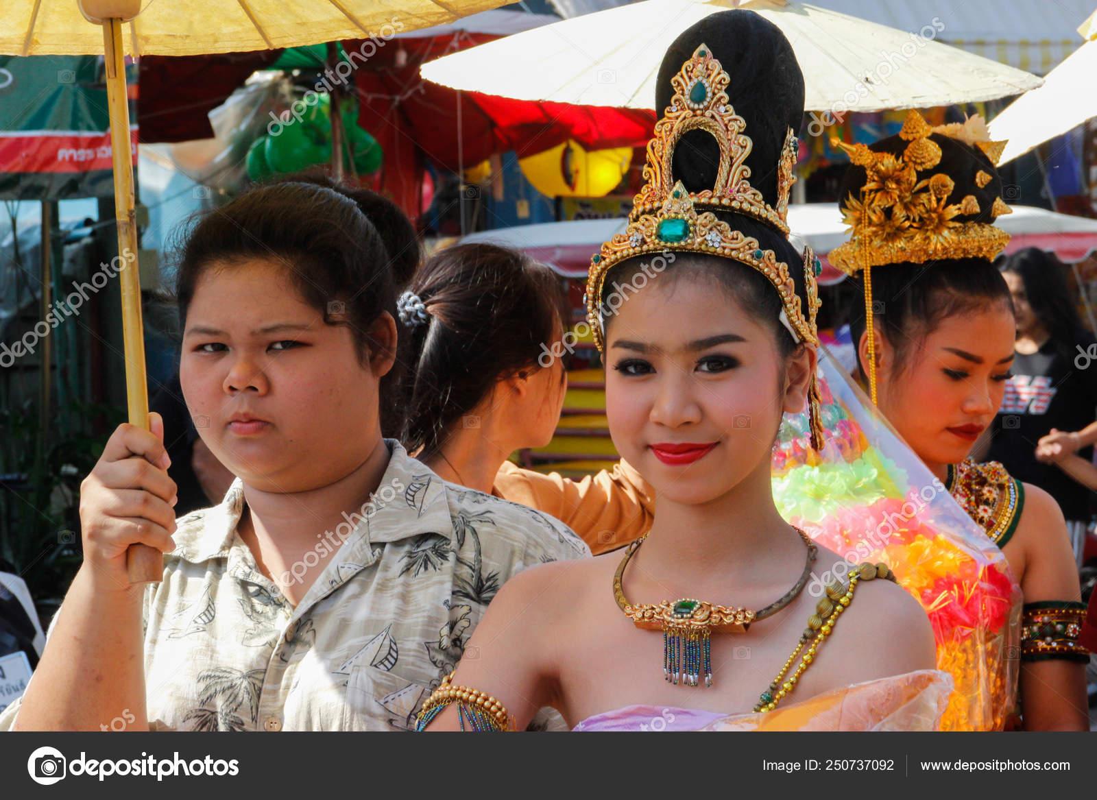 Wedding March 3.Ayutthaya Thailand March 2018 Wedding Ceremony Street Young