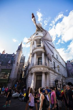 ORLANDO, USA - 11 MARCH 2017: Dragon at Harry Potter Universal Studios