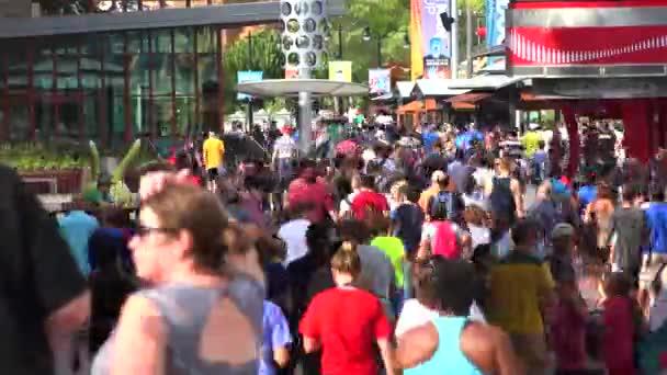 people walking to universal orlando resort in Florida, USA