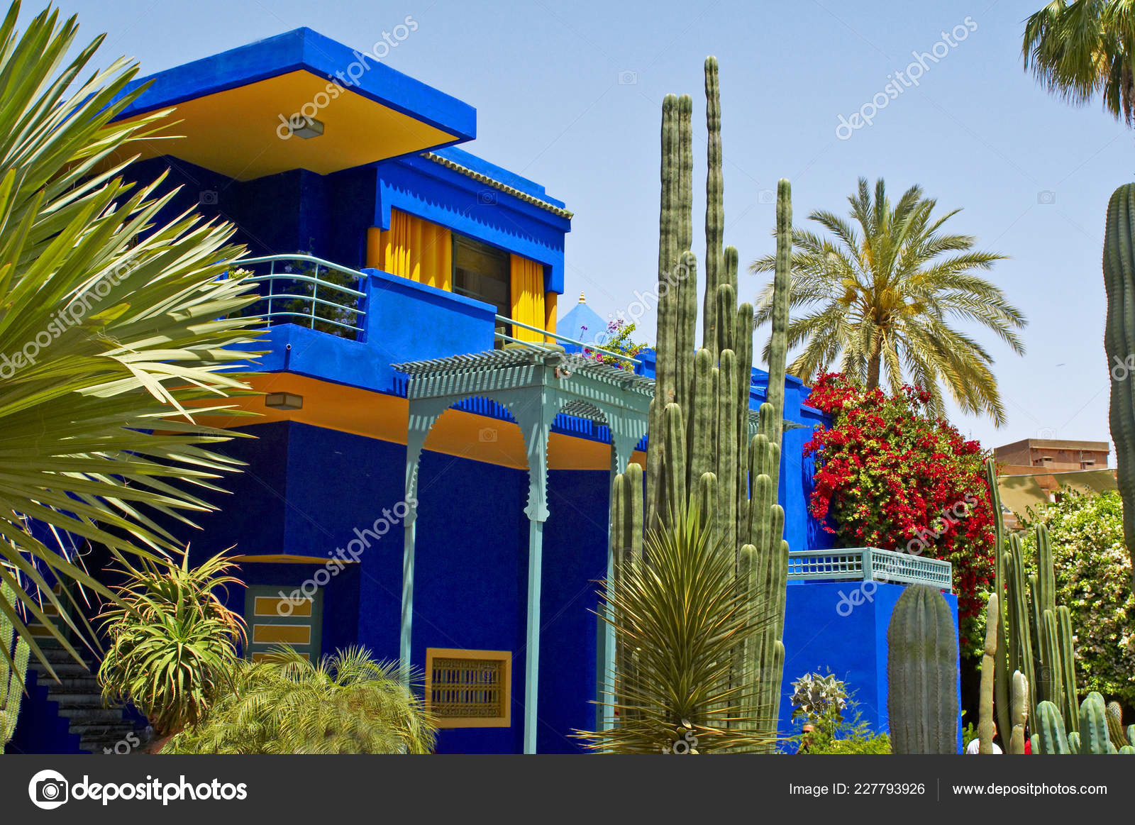 Edificio Del Museo Jardin Jardin Jacques Majorelle Marrakech