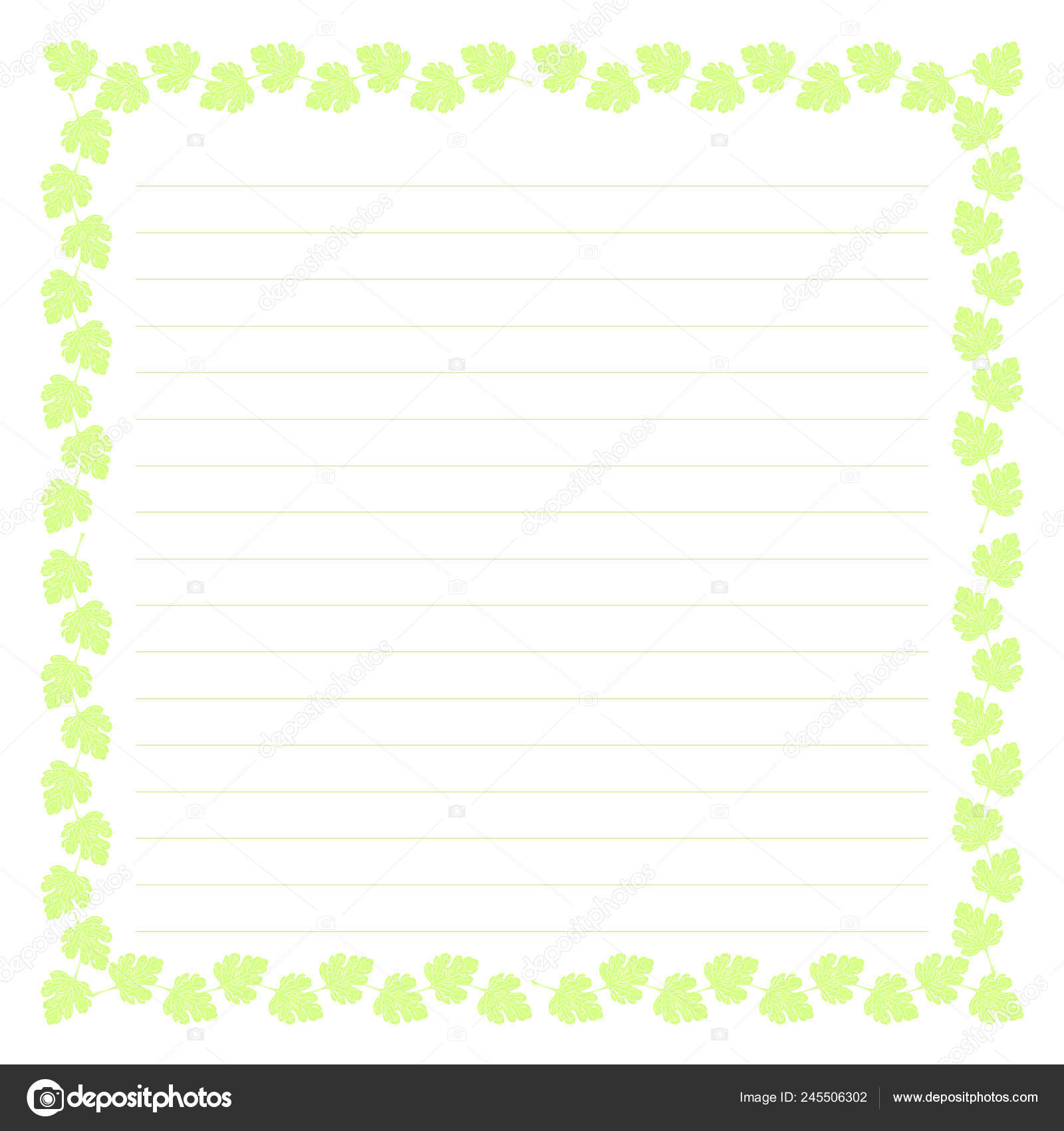 Blank Template Illustration Background Lines Letters Text