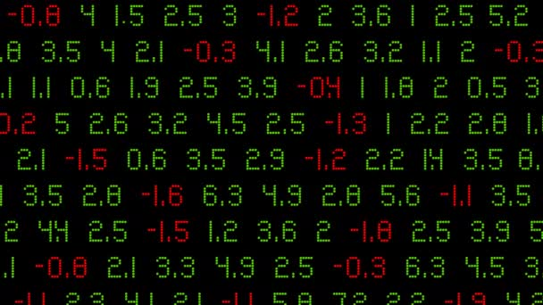 a stock market background with green and red numbers that scrolls - animation