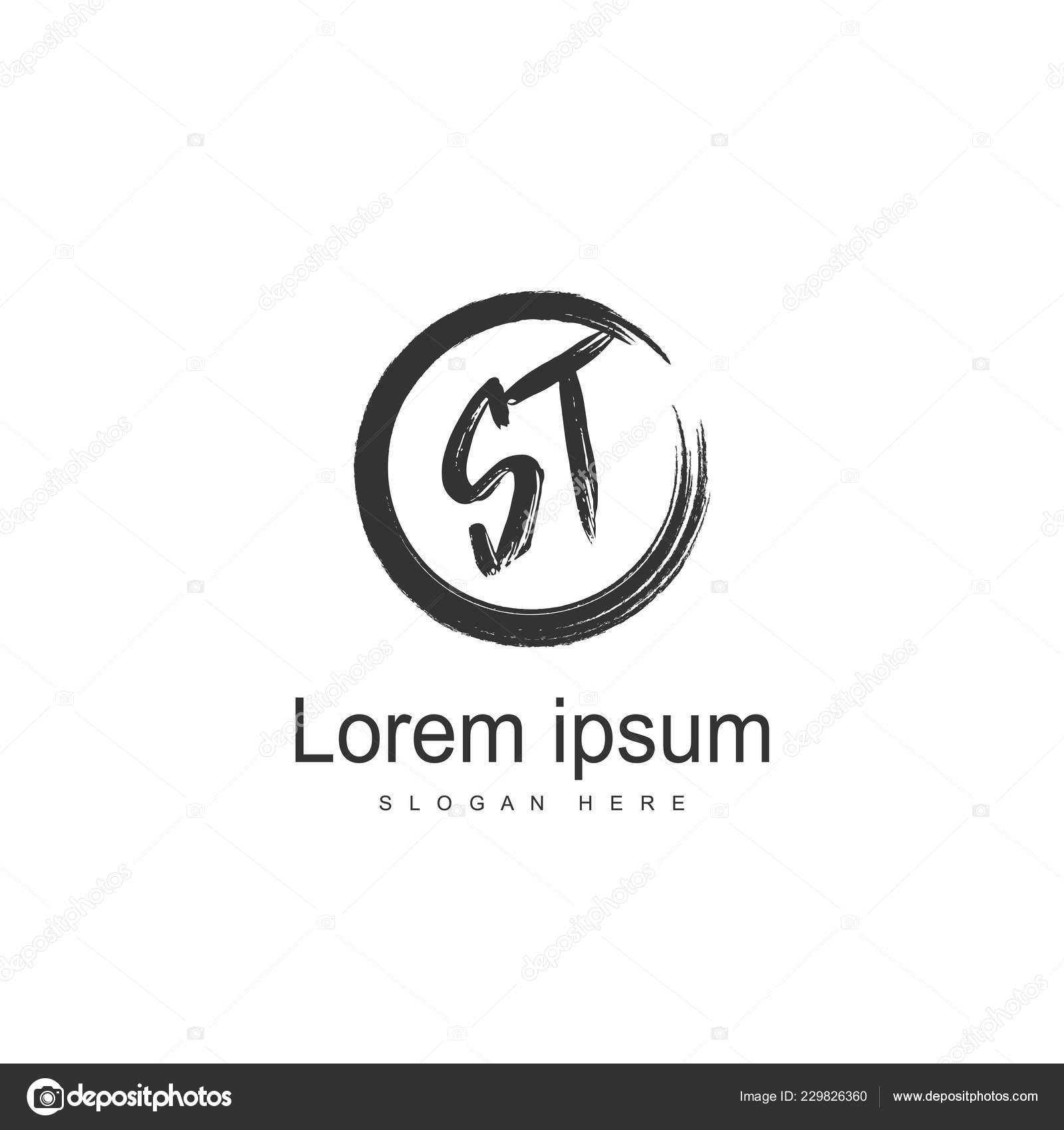 Initial Letter Logo Template Minimalist Letter Logo Design