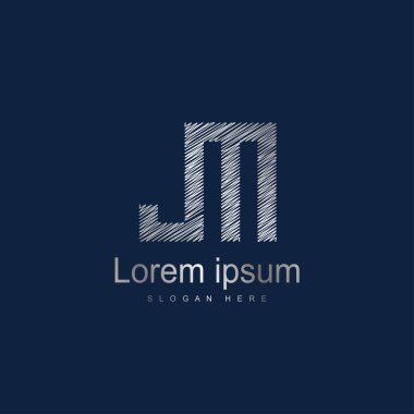 Initial Letter JM Logo Template Vector Design. Abstract letter logo design
