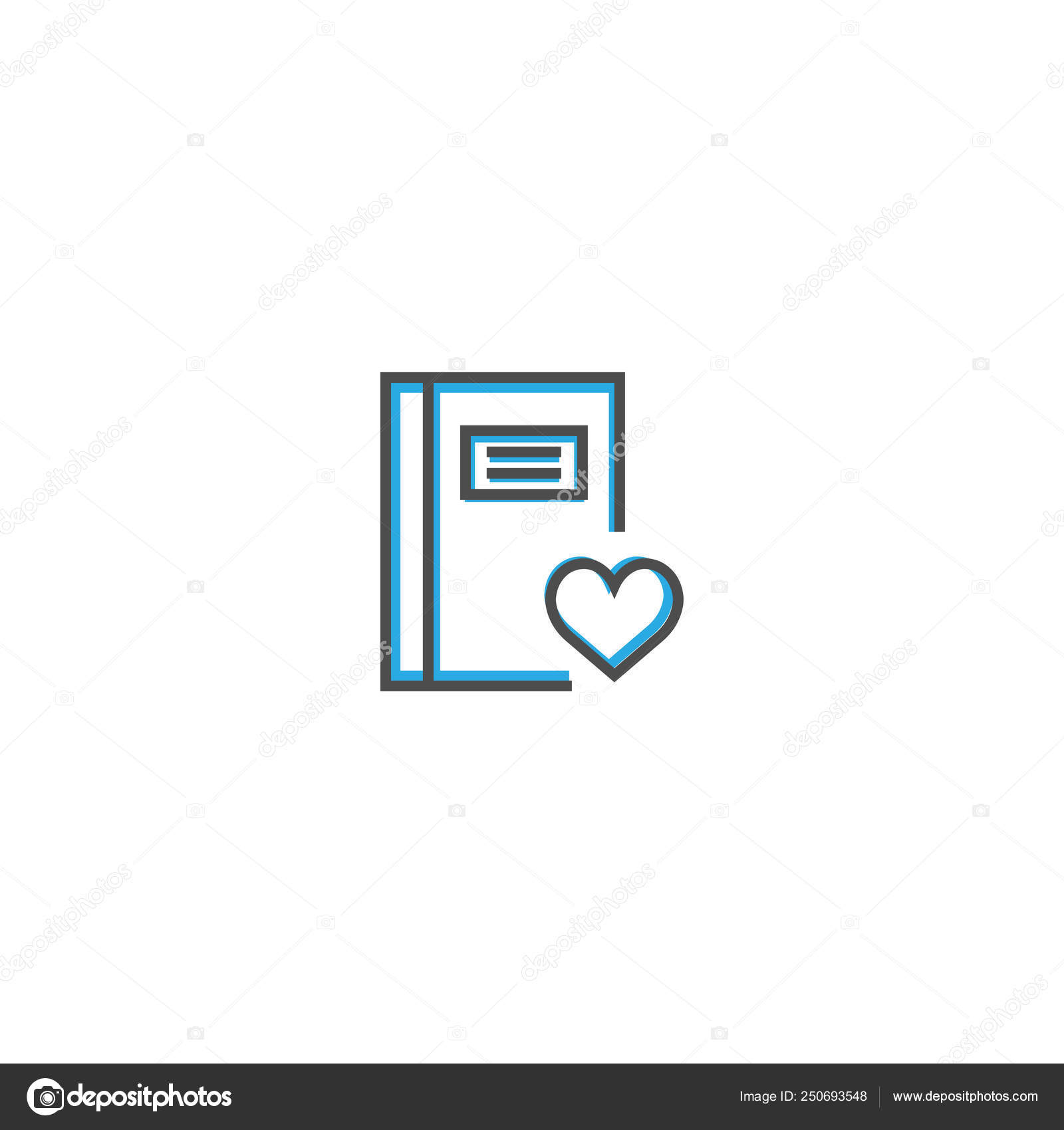 Notebook icon design  Interaction icon line vector illustration