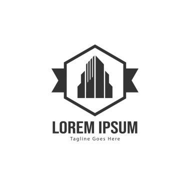 Real estate logo template design. minimalist Real estate logo with modern frame