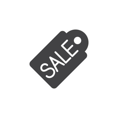 Sale price tag icon vector, filled flat sign, solid pictogram isolated on white, logo illustration