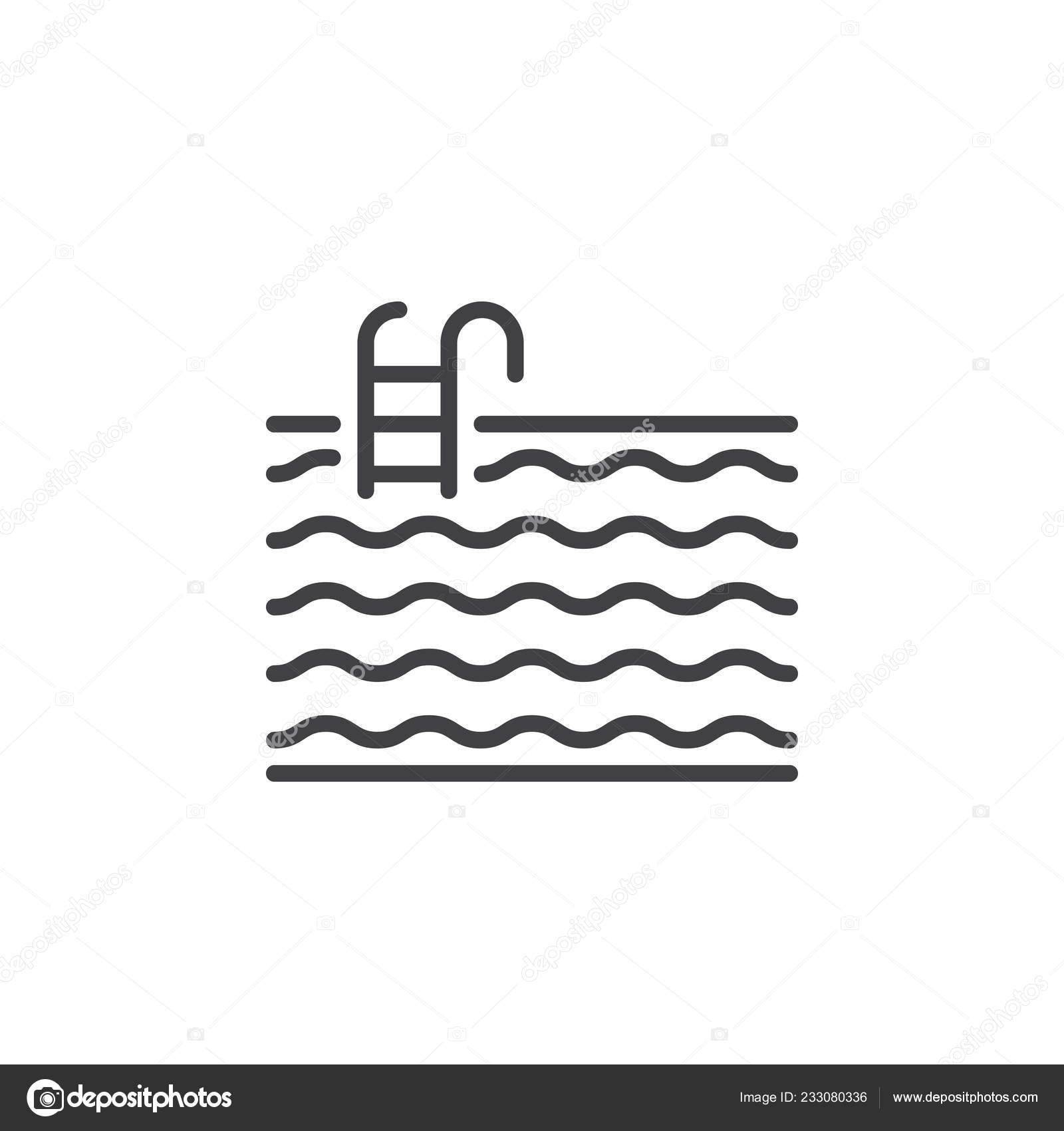 water pool line icon outline vector sign linear pictogram isolated ⬇ vector  image by © avicons   vector stock 233080336  depositphotos