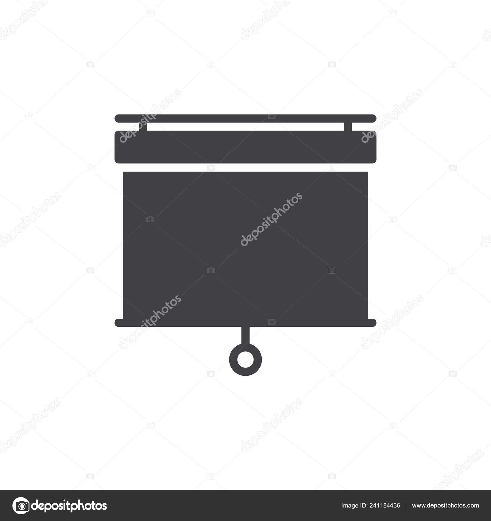Pull Projector Screen Icon Vector Filled Flat Sign Solid