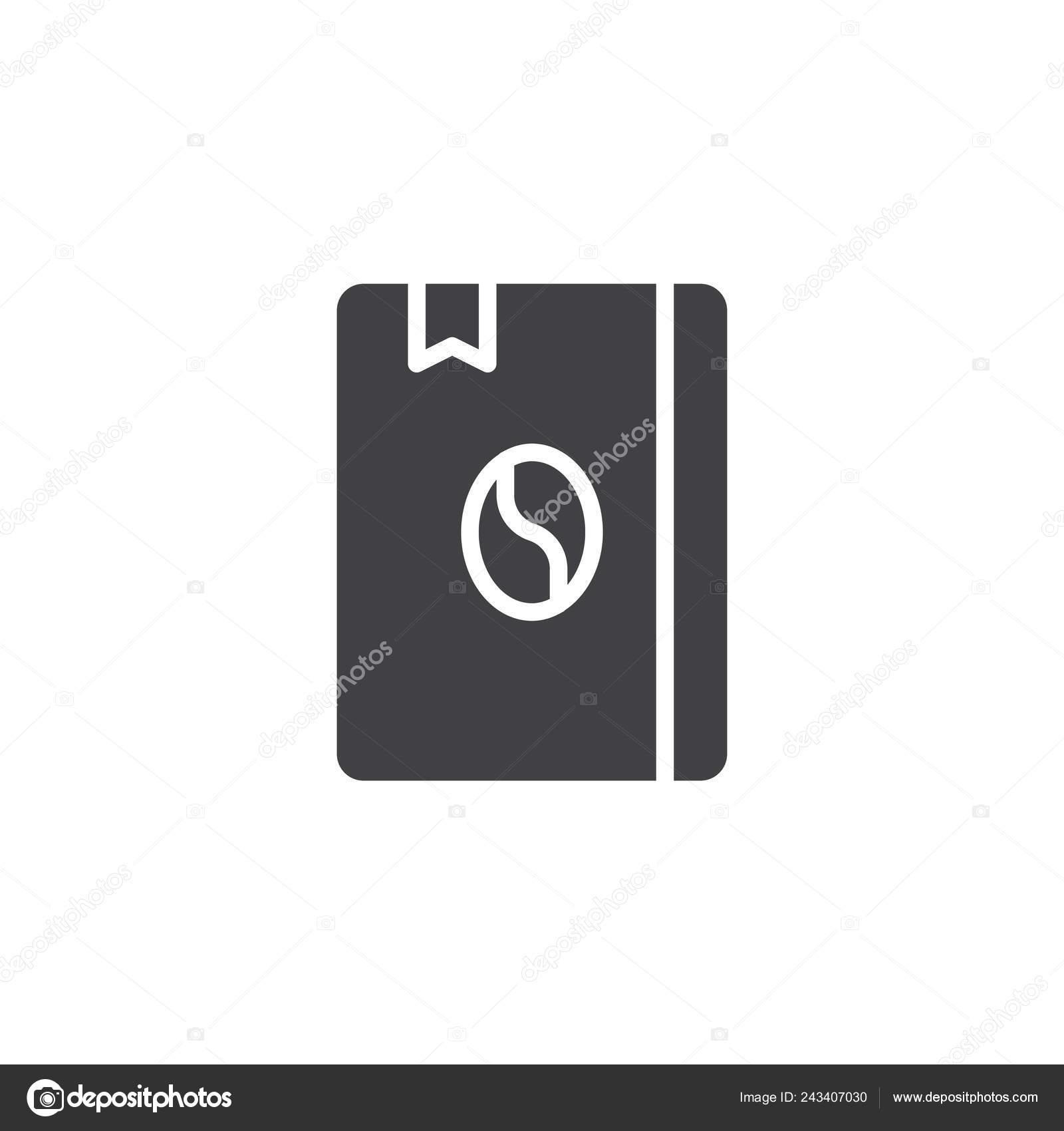 Recettes Cafe Livre Icone Vecteur Rempli Plat Signe
