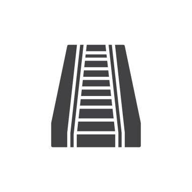 Escalator icon vector, filled flat sign, solid pictogram isolated on white. Symbol, logo illustration.