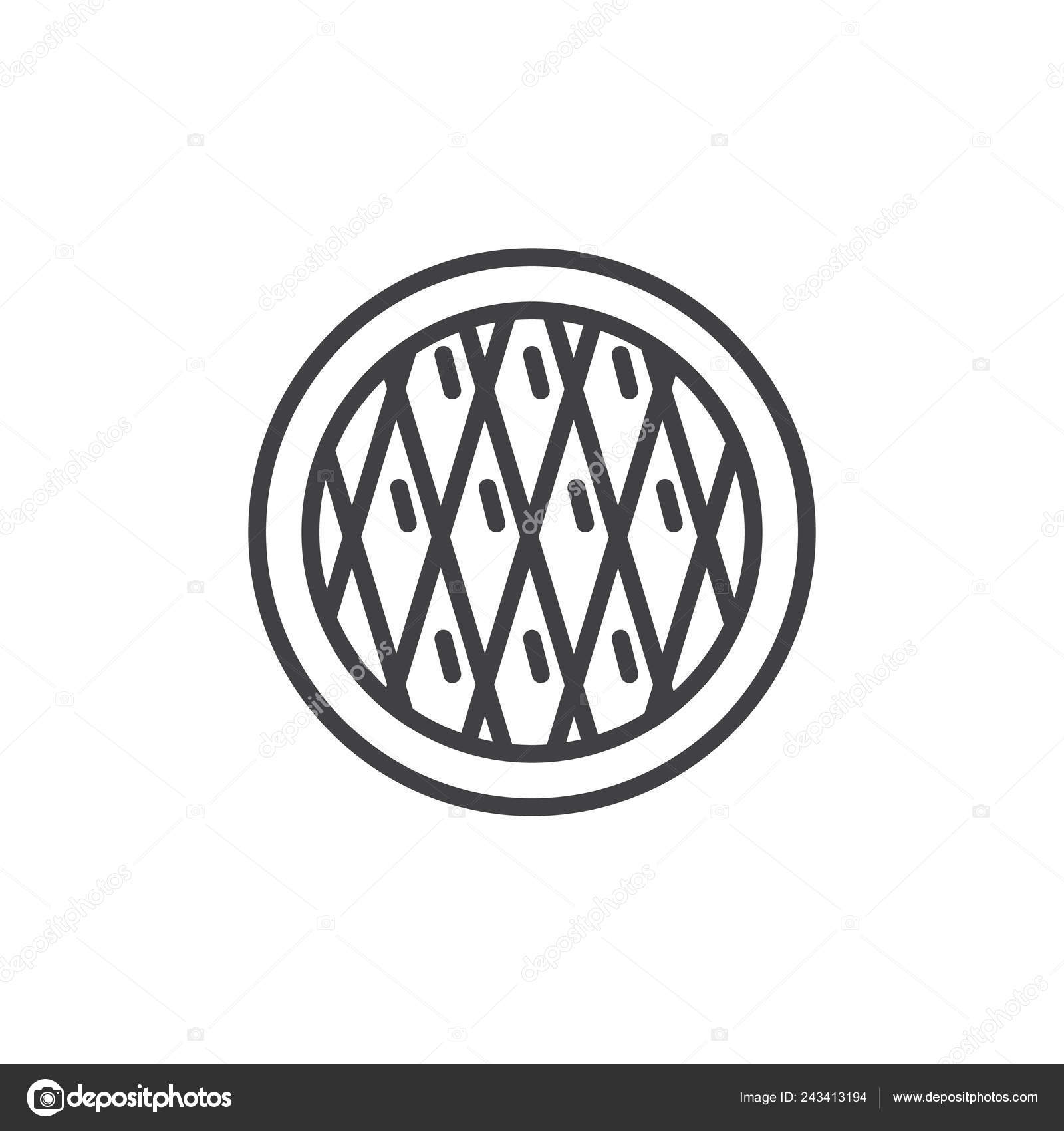 White Christmas Pie.Christmas Pie Line Icon Outline Vector Sign Linear Style