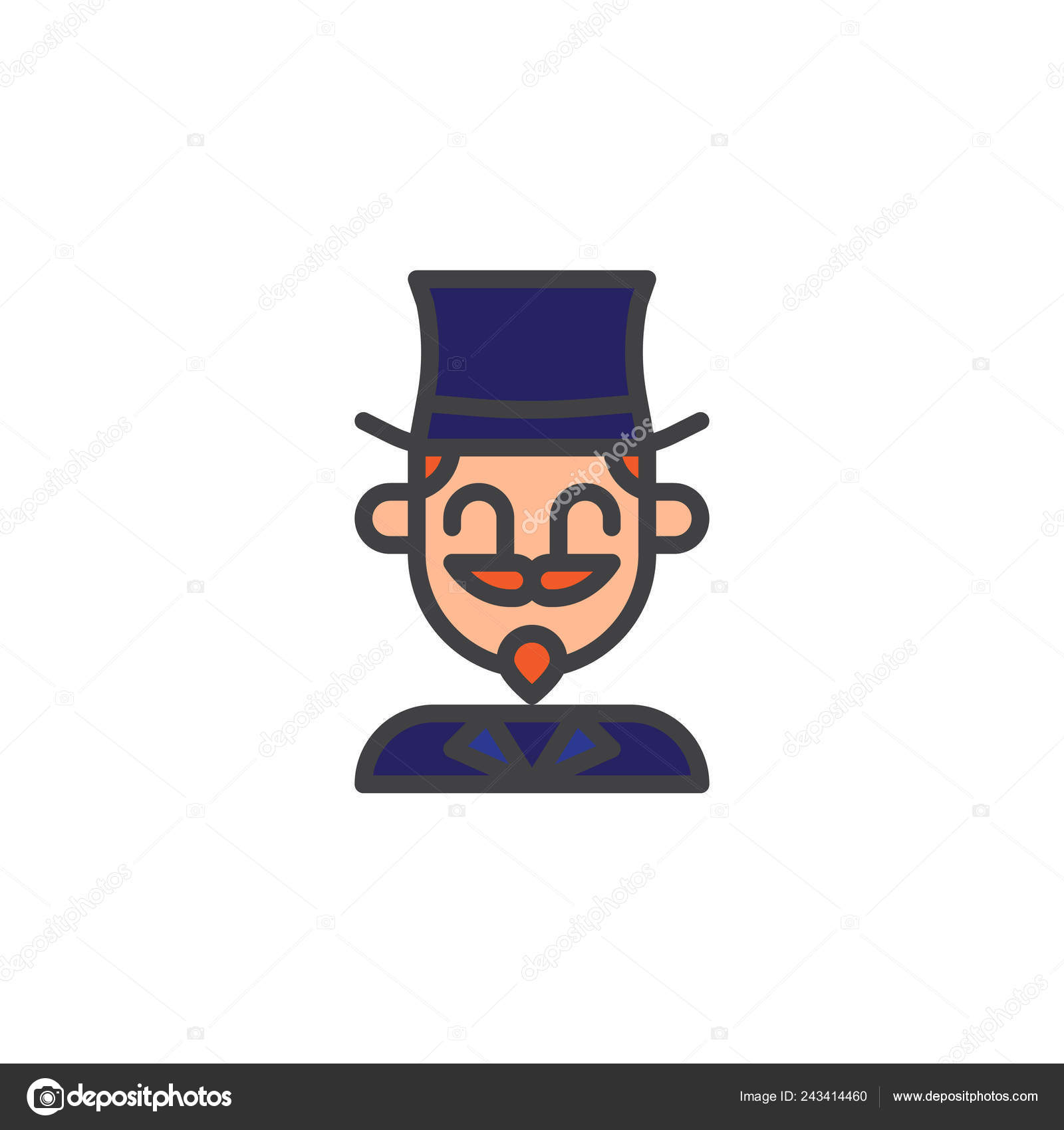 Phenomenal Magician Circus Actor Filled Outline Icon Line Vector Sign Download Free Architecture Designs Licukmadebymaigaardcom