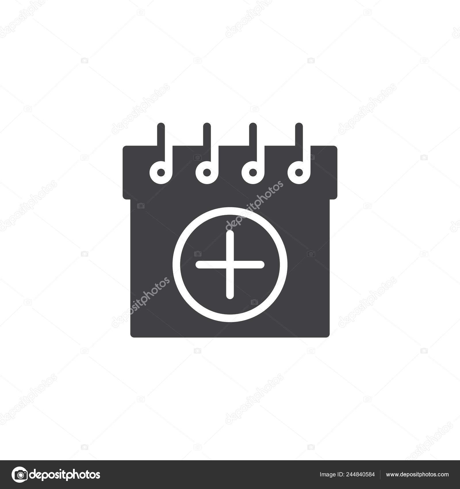 Anadir Calendario.Anadir Calendario Icono Vectores Signo Plano Lleno