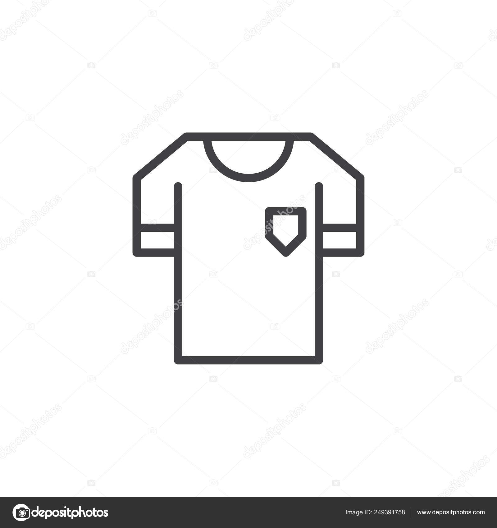 Soccer jersey outline | Soccer jersey outline icon — Stock
