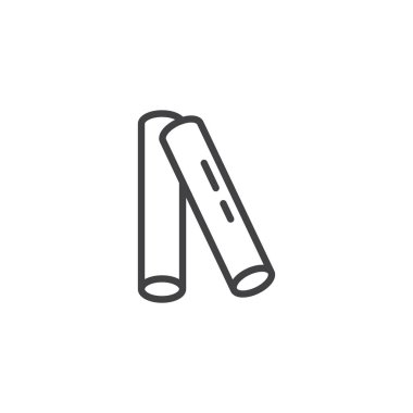 Insect repellent sticks line icon