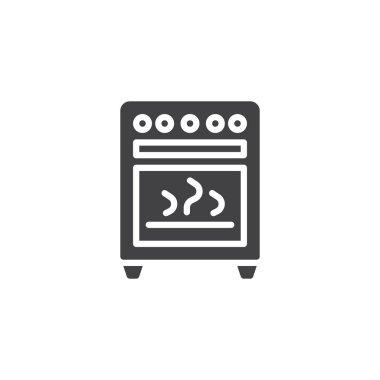 Kitchen stove vector icon