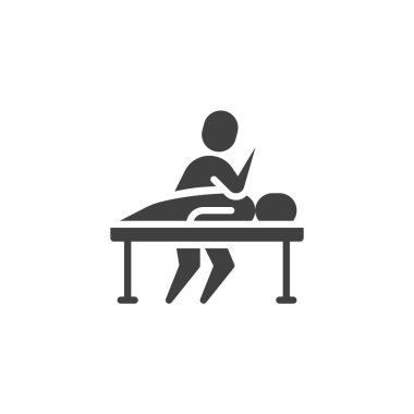Massage therapy vector icon