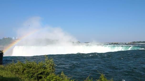 Niagara Falls Landscape and Rainbow