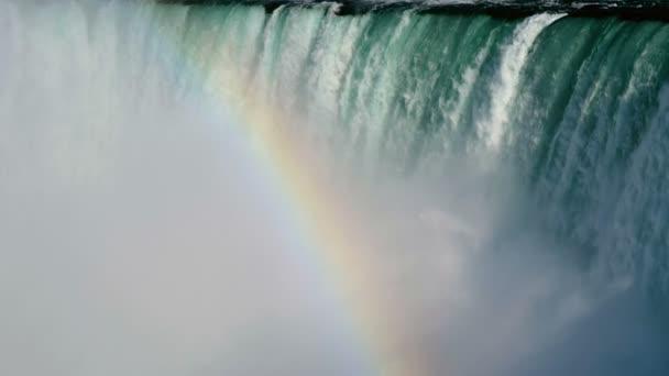 Horse shoe at Niagara Falls with rainbow