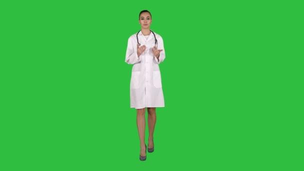 Tanácsadás a zöld képernyő, Chroma Key, női terapeuta.